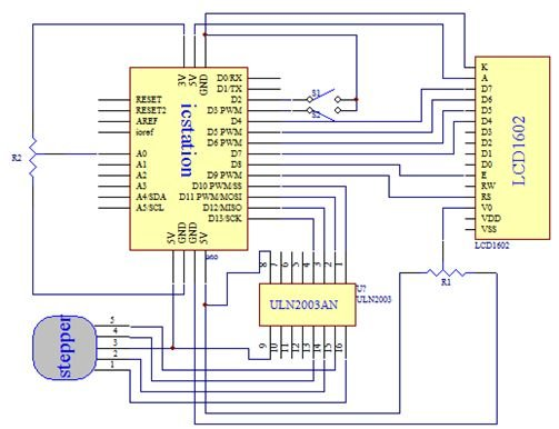 28BYJ-48 Stepper Motor Control System Based On Arduino With Schematic
