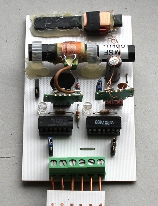 A combined MSF DCF atomic clock receiver