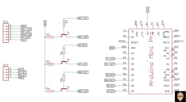 AM03127 LED marquee  Arduino  Bluetooth RaspberryPi remote control schematic