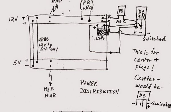 Back in Black - a DIY raspberry pi Boombox Wire it Up - Power Schematic
