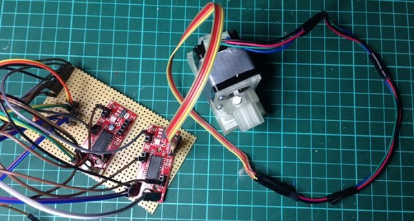Control stepper motors with Raspberry Pi and node js