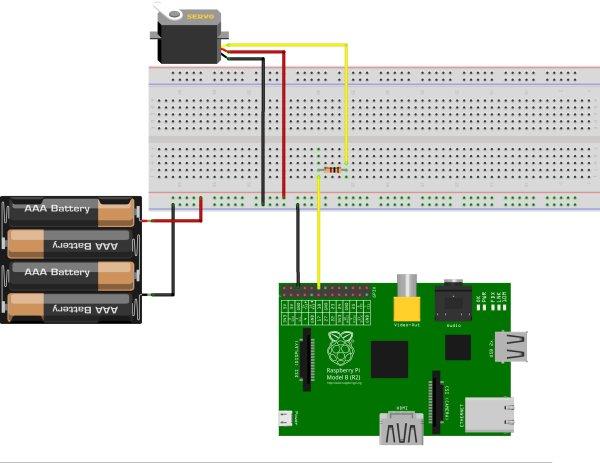 Controlling a Servo Motor schematic