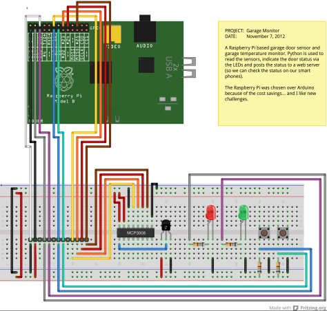 My Raspberry Pi Powered Garage Monitor Schematic