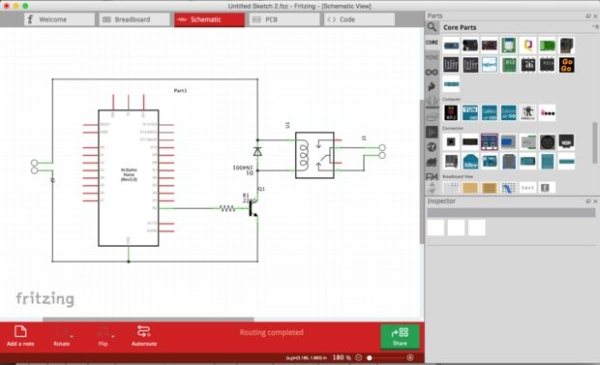 PCB designing and isolation milling using only free Software Schematic