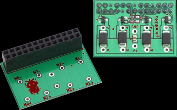 Picoborg control small motors from your raspberry pi for Raspberry pi motor speed control