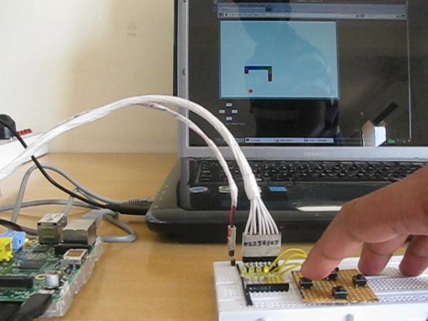 Playing Snake Game using Raspberry Pi Game Pad