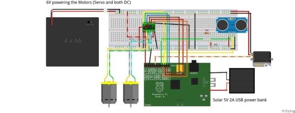 Raspberry Pi CD Box Robot schematic