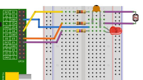 Raspberry Pi Fridge Minder receive an email when the door is opened schematic