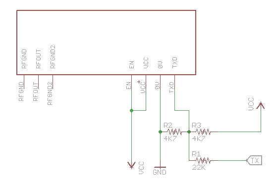 Raspberry Pi + Java + NTX2 Radio Transmitter Schematic