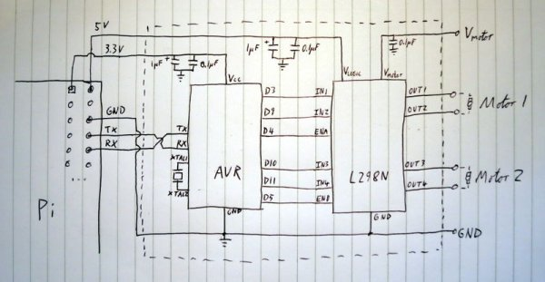 Raspberry Pi Motor Controller Schematic