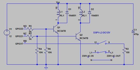 Raspberry Pi controlled power bar.