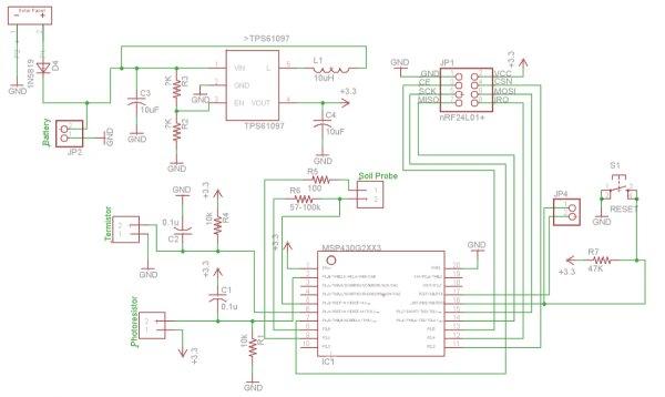 Solar Driveway Light to MSP430 Wireless Sensor Node