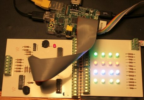 Some fun with 16 RGB LEDs and a Raspberry 3.14159