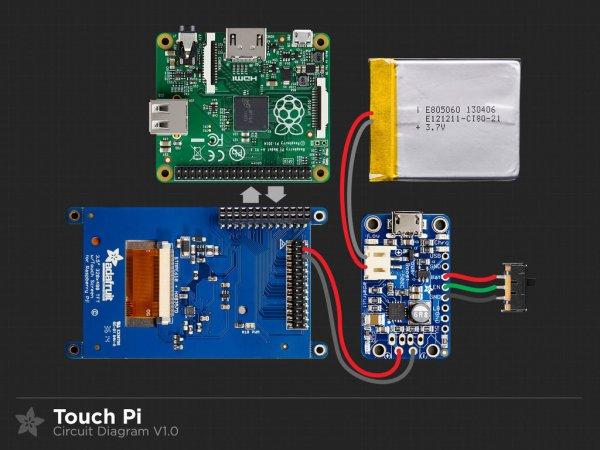 Touch Pi Portable Raspberry Pi Circuit Diagram