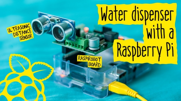 Touch free water dispenser with a Raspberry Pi
