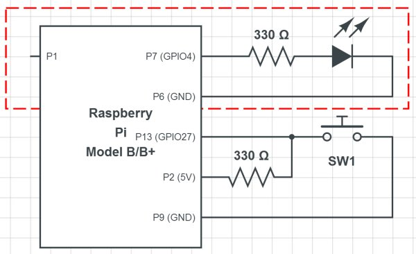 Using the Raspberry Pi GPIO with Python Schematic