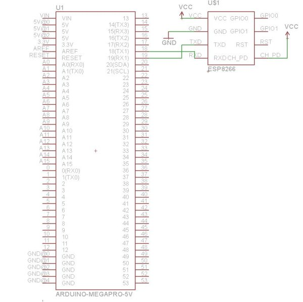 WiFi Enabled Arduino - Interfacing with web APIs schematic