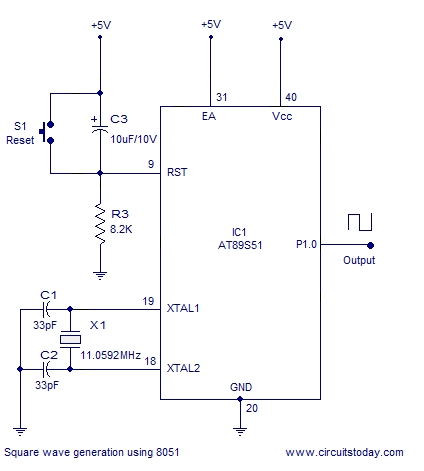Interfacing hex keypad to 8051 Schematic