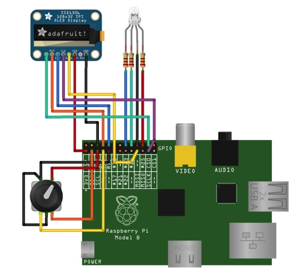 Raspberry Pi Time Clock Schematic