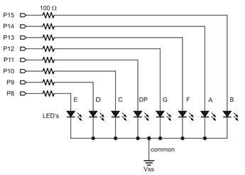 Seven-Segment Display Schematic