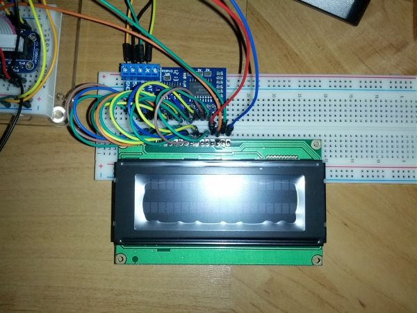 Using 20×4 RGB LCD over i2c with a Raspberry Pi