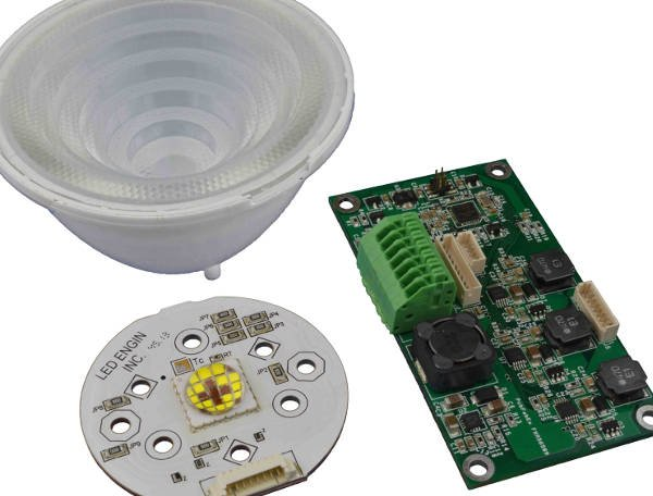 Temp-tuneable LED light engine dims to 0.5