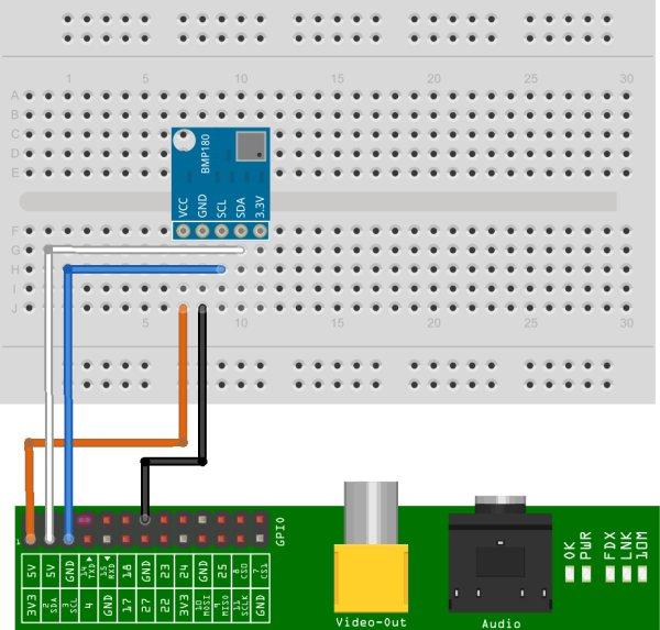 BMP180 I2C Digital Barometric Pressure Sensor schematic