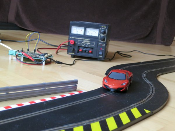 Internet controlled SCALEXTRIC with Raspberry Pi!