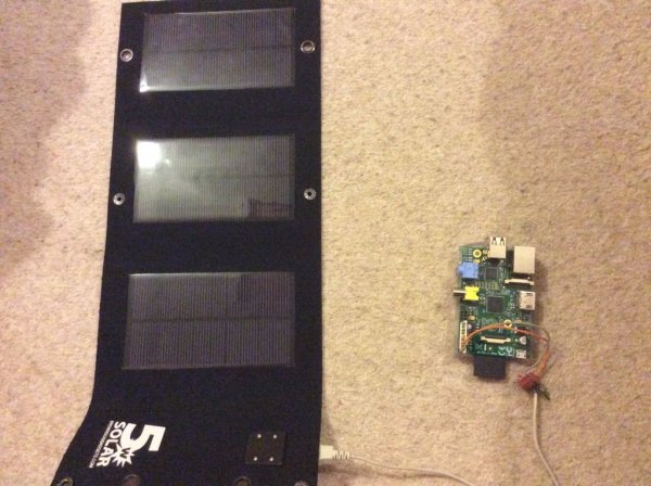Powering a Raspberry Pi with a 5W solar panel