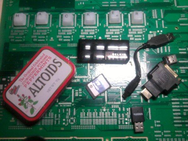 Raspberry Pi accessories tin