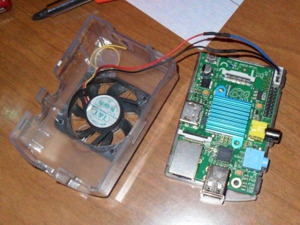 Raspberry Pi and ZenMINER Heatsink and Fan schematic