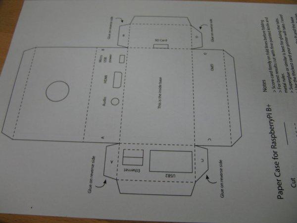 Simple Raspberry Pi B+ case schematic