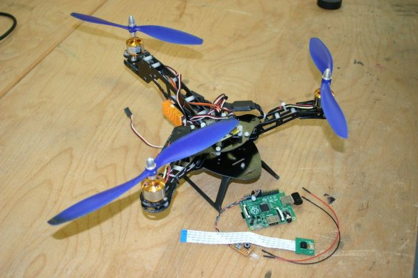 Simple Raspberry Pi Input Output. Tricopter