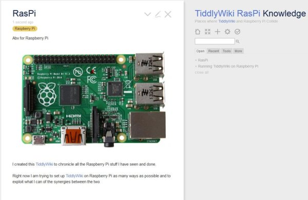 TiddlyWiki 5 on Raspberry Pi Server in 15 minutes