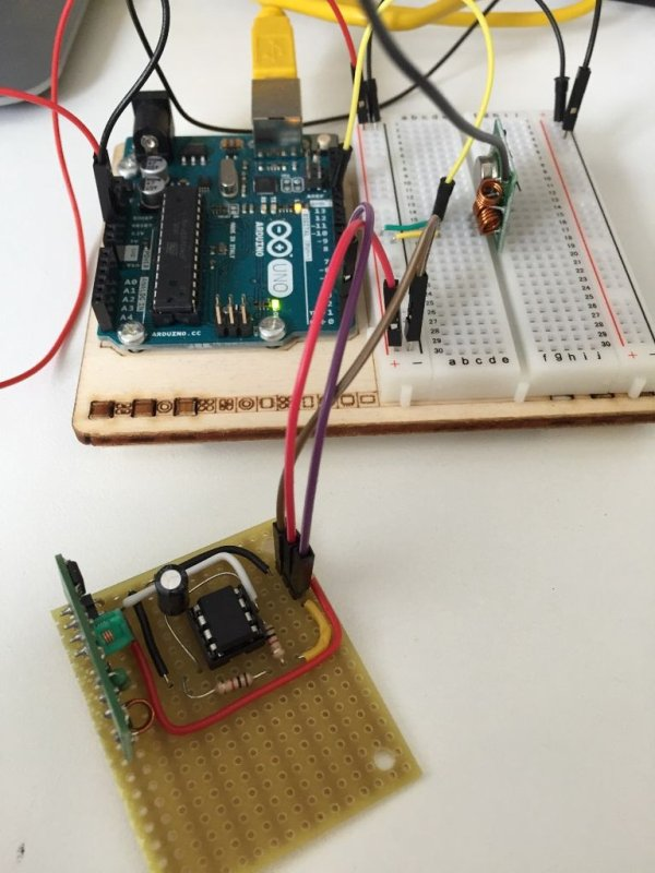 Use a bare Arduino as an RF signal processor for Raspberry PI schematic
