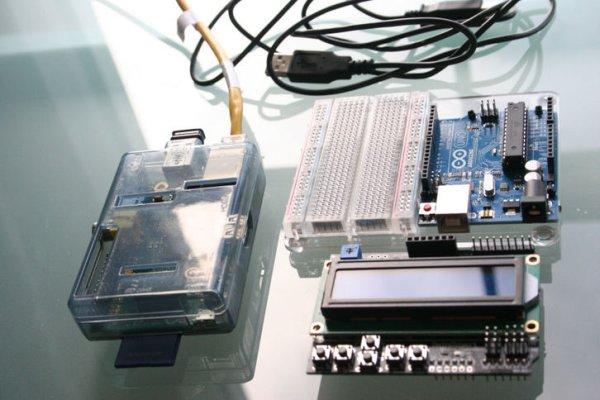 Arduino Raspberry Pi Internet Radio schematic