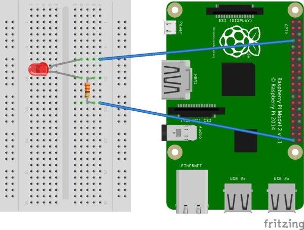 Control LED via website schematic