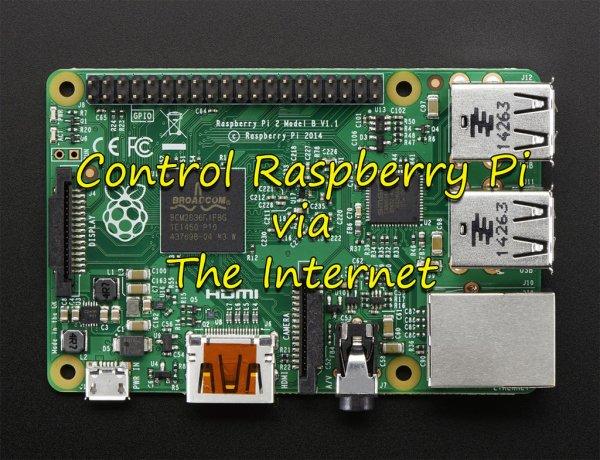 Control LED via website