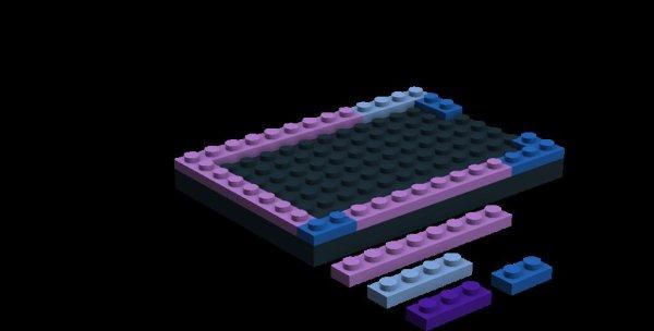 Lego Raspberry Pi Case (for A & B model) schematic