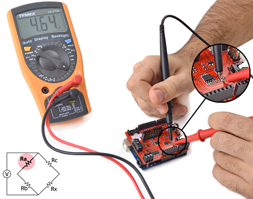 Place multimeter ends at the extremes of the resistors and measure the resistance value