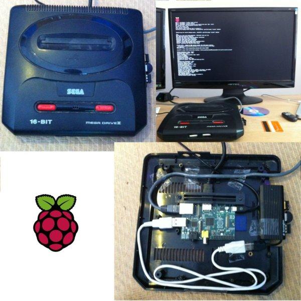 Raspberry Pi Sega Mega Drive Genesis Case