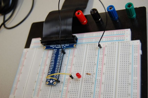 Raspberry pi 2 water alarm with t cobbler plus schematic