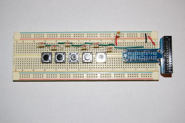 RaspberryPi Multiple Buttons On One Digital Pin schematic