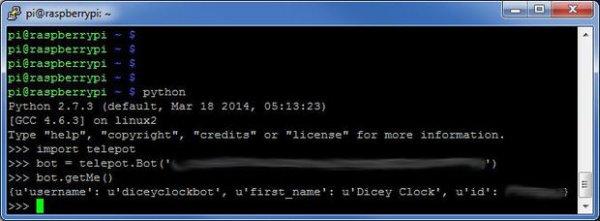Set up Telegram Bot on Raspberry Pi schematich