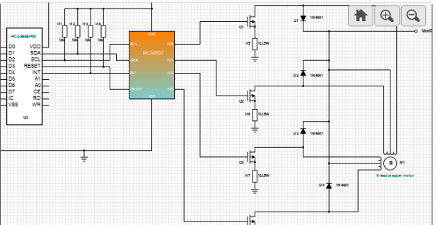 unipolar stepper motor driver circuit
