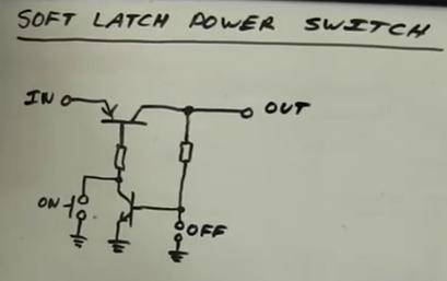 Soft Latch Power Switch Circuit