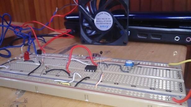 Temperature controlled Fan