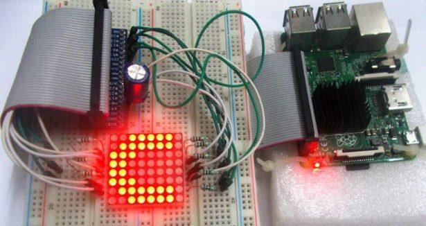 controlling 8x8 led matrix with raspberry pi