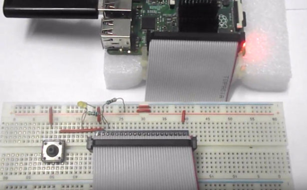 interface a button to raspberry pi