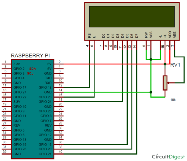 schematic web controlled iot notice board using raspberry pi